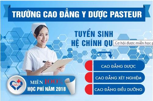Trường Cao đẳng Y Dược Pasteur miễn 100% học phí năm 2018